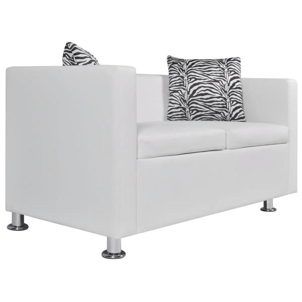 Conjunto sofás de 2 e 3 lugares + poltrona couro artif ...