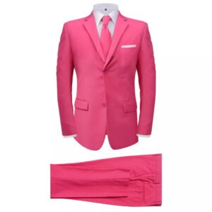 Fato + gravata p/ homem, 2 pcs, rosa, tamanho 46 - PORTES GRÁTIS