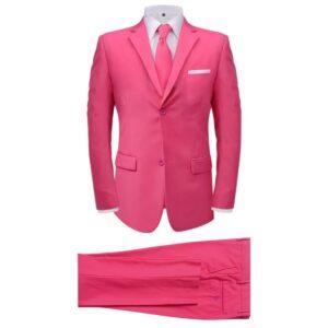 Fato + gravata p/ homem, 2 pcs, rosa, tamanho 48 - PORTES GRÁTIS