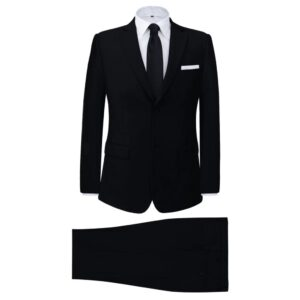 Fato formal para homem, 2 pcs, tamanho 46, preto - PORTES GRÁTIS