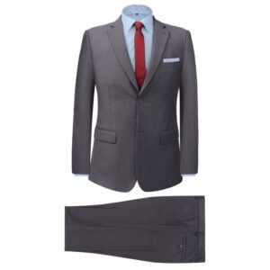 Fato formal p/ homem, 2 pcs, tamanho 48, cinzento - PORTES GRÁTIS