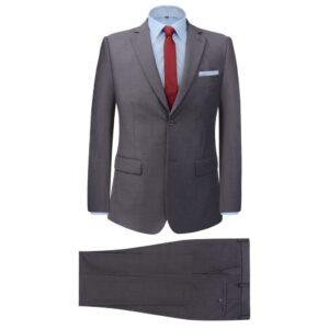 Fato formal p/ homem, 2 pcs, tamanho 52, cinzento - PORTES GRÁTIS