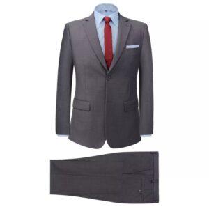 Fato formal homem 2 pçs tamanho 54 cinzento - PORTES GRÁTIS