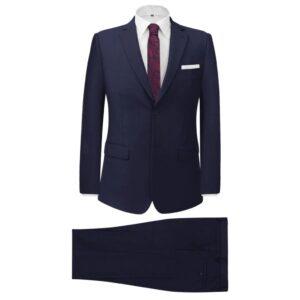 Fato formal homem 2 pcs tamanho 46 azul-marinho - PORTES GRÁTIS