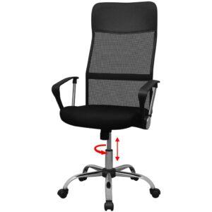Cadeira de escritório PU 61,5 x 60 cm preto - PORTES GRÁTIS