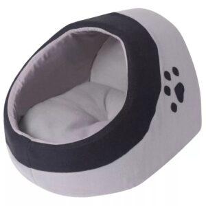 Cubo para gato cinzento e preto L - PORTES GRÁTIS