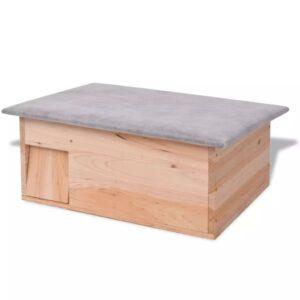 Casa para ouriço em madeira 45x33x22 cm - PORTES GRÁTIS