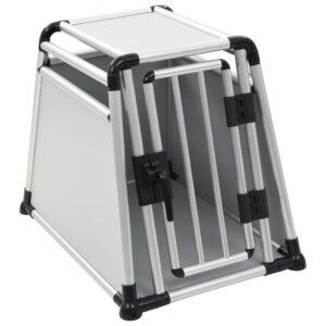 Transportadora para cães alumínio M - PORTES GRÁTIS