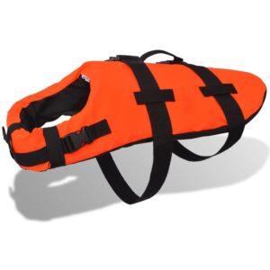 Colete de resgate para cão M, laranja - PORTES GRÁTIS