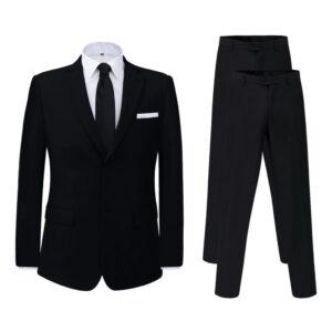 Fato homem 2 pcs + par de calças extra, tamanho 46, preto - PORTES GRÁTIS