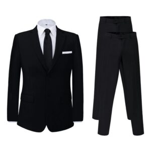 Fato homem 2 pcs + par de calças extra, tamanho 48, preto - PORTES GRÁTIS
