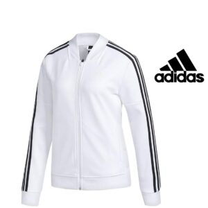 Adidas® Casaco Branco com Riscas nas Mangas