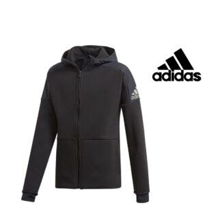 Adidas® Casaco Preto Junior com Carapuço | Tecnologia Climaheat®