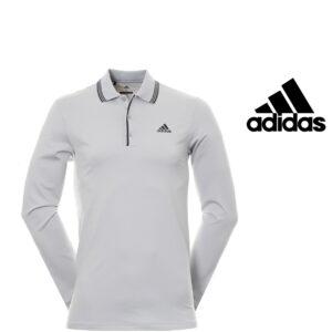 Adidas® Polo Golf Manga Larga Gris
