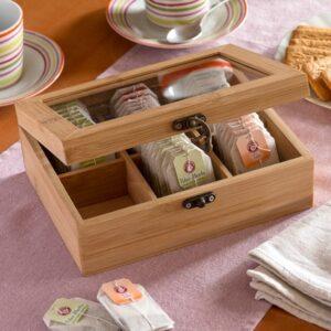 Caixa de chá em bambu TakeTokio