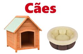 Cães - Casotas - Camas - Brinquedos - Vestuário