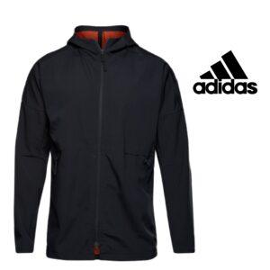Adidas® Casaco Preto com Carapuço | Tamanho S