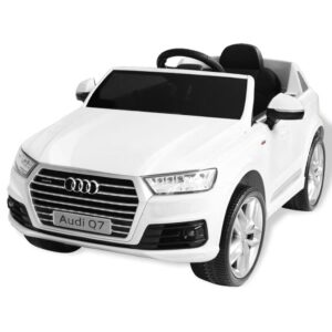 Carro de passeio Audi Q7 elétrico 6 V branco - PORTES GRÁTIS