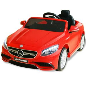 Carro de passeio elétrico Mercedes Benz AMG S63 12 V vermelho - PORTES GRÁTIS