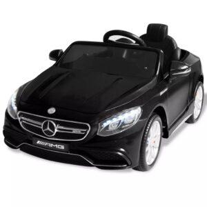 Carro de passeio elétrico Mercedes Benz AMG S63 12 V preto - PORTES GRÁTIS