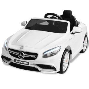 Carro de passeio Mercedes Benz AMG S63 elétrico 12 V branco - PORTES GRÁTIS