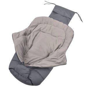 Saco cobre-pés/saco cama p/ carrinho de bebé 90x45 cm cinzento - PORTES GRÁTIS