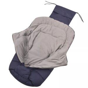 Saco cobre-pés/saco cama p/ carrinho de bebé 90x45 cm marinho - PORTES GRÁTIS
