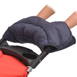 Proteção de mãos para carrinho de bebé 55x25 cm azul-marinho - PORTES GRÁTIS