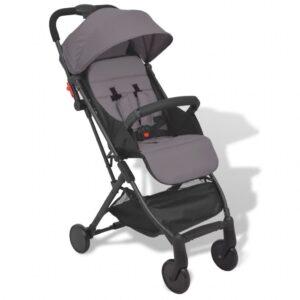 Carrinho de bebé cinzento 89x47,5x104 cm - PORTES GRÁTIS