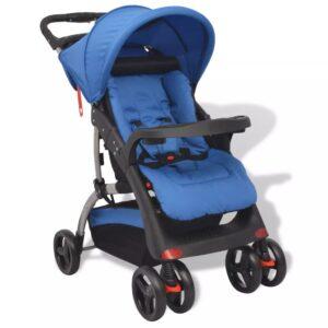 Carrinho de bebé azul 102x52x100 cm - PORTES GRÁTIS