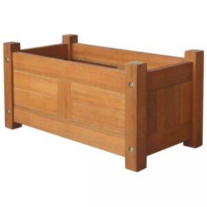 Vaso para plantas de madeira de acácia 50x25x25 cm - PORTES GRÁTIS