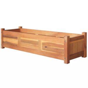 Vaso para plantas, madeira de acácia 100x30x25 cm - PORTES GRÁTIS