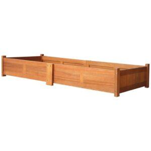 Vaso para plantas de madeira de acácia 200x50x25 cm - PORTES GRÁTIS