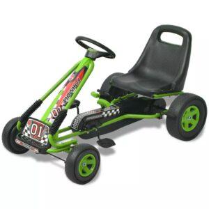 Kart de pedais com assento ajustável verde - PORTES GRÁTIS