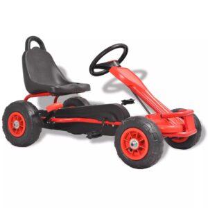 Kart a pedais com pneus pneumáticos vermelho - PORTES GRÁTIS