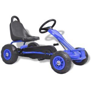 Kart a pedais com pneus pneumáticos azul - PORTES GRÁTIS