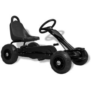 Kart a pedais com pneus pneumáticos preto - PORTES GRÁTIS