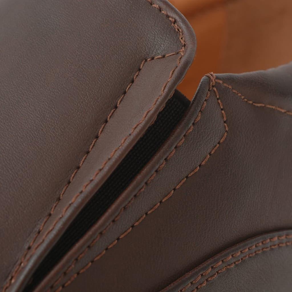 Sapatos mocassim homem tamanho 40 couro PU castanho PORTES GRÁTIS