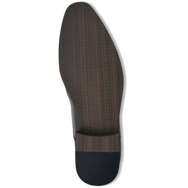 Sapatos brogue homem c/ atacadores tamanho 43 couro PU preto - PORTES GRÁTIS