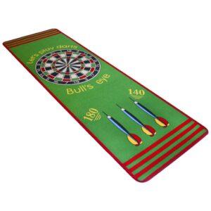 Tapete de dardos 79x237 cm verde e vermelho - PORTES GRÁTIS