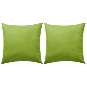 Almofadas para exterior 2 pcs 45x45 cm verde maça - PORTES GRÁTIS