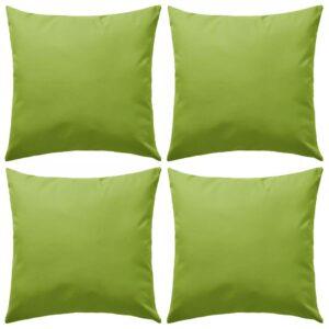 Almofadas para exterior 4 pcs 45x45 cm verde maça - PORTES GRÁTIS