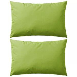 Almofadas para exterior 2 pcs 60x40 cm verde maçã - PORTES GRÁTIS