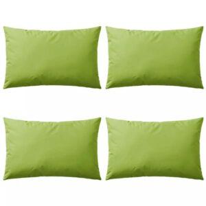 Almofadas para exterior 4 pcs 60x40 cm verde maçã - PORTES GRÁTIS