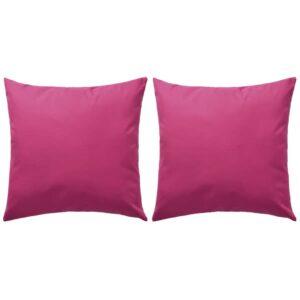 Almofadas para exterior 2 pcs 45x45 cm rosa - PORTES GRÁTIS