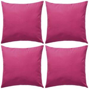 Almofadas para exterior 4 pcs 45x45 cm rosa - PORTES GRÁTIS