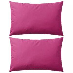 Almofadas para exterior 2 pcs 60x40 cm rosa - PORTES GRÁTIS