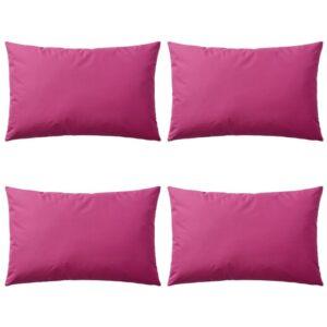 Almofadas para exterior 4 pcs 60x40 cm rosa - PORTES GRÁTIS