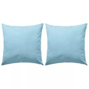 Almofadas para exterior 2 pcs 45x45 cm azul claro - PORTES GRÁTIS