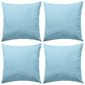 Almofadas para exterior 4 pcs 45x45 cm azul claro - PORTES GRÁTIS